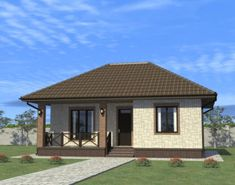 House Architecture Styles, Plans Architecture, African House, Family House Plans, Small House Design, Home Design Plans, Design Case, One Bedroom, Beautiful Paintings