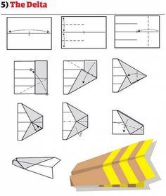 Pappersflygplan 5 - The Delta