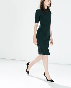 LONG SHIFT DRESS from Zara, $80