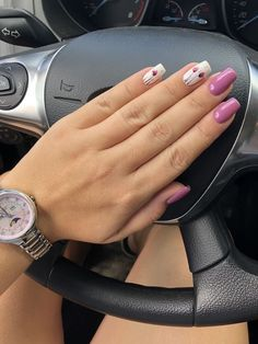 Pink Nails for Valentines pink valentines nails Nail Designs Spring, Nail Art Designs, Cute Nails, Pretty Nails, Gorgeous Nails, Red Nails, Hair And Nails, Coral Nails, Spring Nails