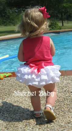 White Classic Style Original Sassy Pants Ruffled by Sherbet Baby Ruffle Bloomers, Ruffles, Ruffle Diaper Covers, Sassy Pants, Mademoiselle, Little Girl Dresses, My Baby Girl, Baby Sewing, Baby Dress