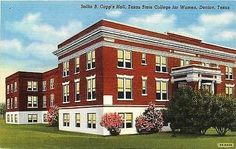Denton Texas TX 1943 Texas State College for Women Capp's Hall Vintage Postcard - Moodys Vintage Postcards - 1