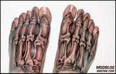 Anatomy tattoo.