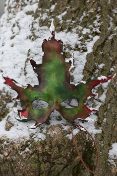 Snowy Maple Leaf in the Snow
