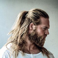 Beard with long hair