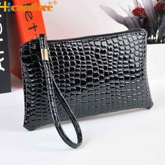0.94$  Buy here - Women Crocodile Leather Clutch Handbag Bag Coin Purse Best Gift drop ship bea666   #bestbuy