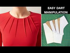 Dart Manipulation, Skirt Patterns Sewing, Clothing Patterns, Camisa Raglan, Sewing Collars, Couture Sewing Techniques, Fancy Dress Design, Sewing Blouses, Pattern Drafting
