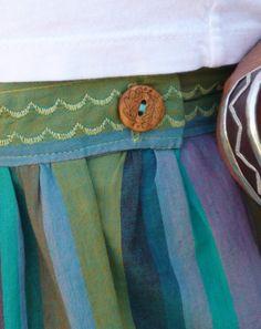 miramar skirt :: button detail