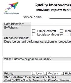 template for quality improvement plan - pinterest the world s catalog of ideas