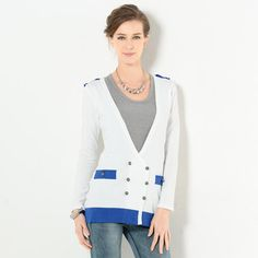 Buy 'YesStyle Z – Contrast Trim Double-Breasted Cardigan' with Free International Shipping at YesStyle.com. Browse and shop for thousands of Asian fashion items from Hong Kong and more!