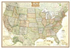 USA 1425 Wall Map Educational Poster Wall maps Prints and Walls