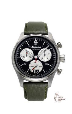 Alpina Startimer Pilot Chronograph Big Date. Professional Swiss Made Pilot Watch.