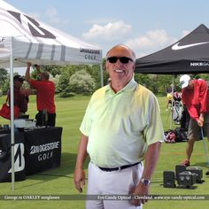 George is ready to play competitively at Bridgestone Invitational Golf Tournament in Akron in his new Oakley sunglasses.  All Fashion roads in Ohio lead to Eye Candy!  Be who you want to be at Eye Candy Optical!  www.eye-candy-optical.com  (440) 250-9191