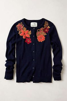 Posey Patch Embroidered Cardigan