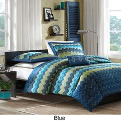 Have one to sell? Sell it yourself Aqua and Blue Nights 3-piece Comforter Set Queen/Full Teen Bedroom Decor 69.00