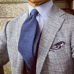 Blue on gray. My Dapper Self The official Tumblr for My Dapper Self - suits, ties, all kinds of classy menswear!