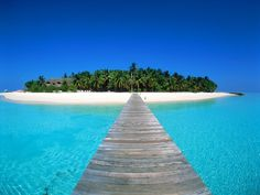 The island country of the Maldives, in the Indian Ocean. This would be one hell of a honeymoon!
