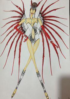 Samba Costume, Circus Costume, Carnival Costumes, Dreams And Nightmares, Klimt, Cartography, Cabaret, Fashion Books, Book Illustration