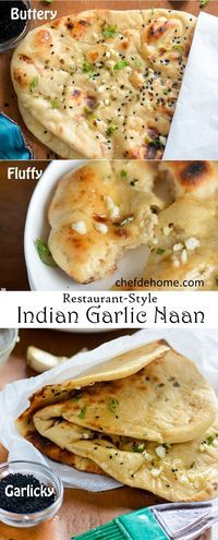 Indian Garlic Naan Bread for Easy Indian Dinner at Home. A quintessential Indian bread served in every Indian Eatery, Garlic Naan is heart-throb of million Indian Cuisine Lovers! No Need of Special Oven – Sharing an easy Stove Top cooking method Comida India, Vegetarian Recipes, Cooking Recipes, Bulgur Recipes, Hotdish Recipes, Stove Top Recipes, Recipe Tips, Carrot Recipes, Tortilla Wraps