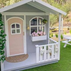 Now partnering with the Awesome brand of Hide and Seek Kids . Cubby Central are proud to be able to offer these products to our Cubby Central Customers . Beautiful cubbies at affordable prices . Wood Playhouse, Playhouse Interior, Girls Playhouse, Backyard Playhouse, Playhouse Plans, Backyard Playground, Painted Playhouse, Wooden Outdoor Playhouse, Playhouse Decor