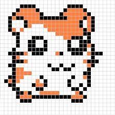 Resultado de imagen para pixel art kawaii with grid junk food