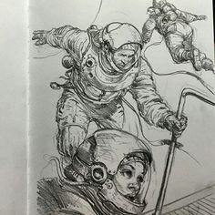 how to draw chibis Karl Kopinski, Post Apocalyptic Art, Sketchbook Tour, Futuristic Art, Detailed Drawings, Drawing Tutorials, Texture Art, Figure Drawing, Comic Art