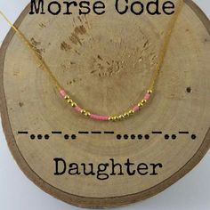 DAUGHTER Morse Code Necklaces, Secret Message, Dainty necklace, Minimalist, Morse code jewelry, gold necklace, Daughter gift #diyjewelry