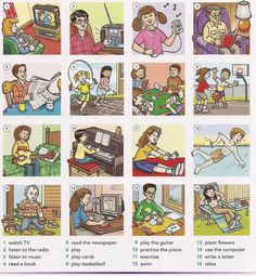 Leisure activities English vocabulary