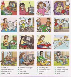 Leisure activities English vocabulary