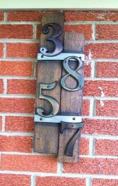 Bourbon barrel slat address plaque  on Etsy, $50.00