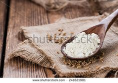 Spelt Flour with seeds as detailed close-up shot - stock photo
