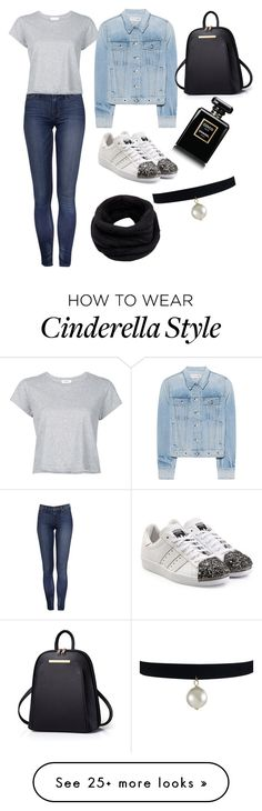 """Untitled #10"" by bosniangiirl on Polyvore featuring adidas Originals, RE/DONE, rag & bone, Helmut Lang and Chanel"