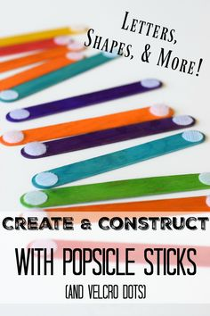 Create Alphabet Letters and Construct Shapes with Popsicle Sticks - by This Little Home of Mine
