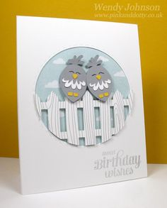 Wendy Johnson | Turtle Doves Birthday Card