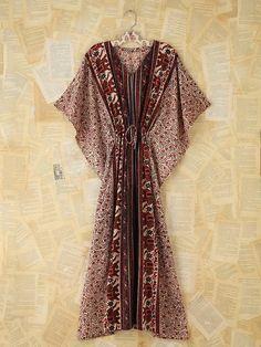 Free People Vintage Printed Maxi Kaftan. Linda u need this scarf dress too to go w your cute hair!!!!