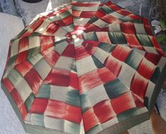 1970's Vintage Umbrella with  Handcarved by Happybeginning on Etsy, $30.00