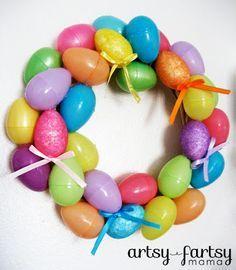 artsy-fartsy mama: Easter Egg Wreath