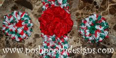 Ruffelina Lace Ruffle Flower Crochet Pattern - Free by Sara Sach of Posh Pooch Designs / Mrs. Christmas - 12 Crochet Round Ups of Christmas - Rebeckah's Treasures