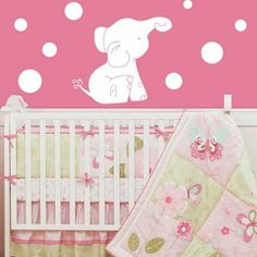 Baby Elephant Nursery Wall Decals. It's official! I'm having a baby elephant room for a nursery!