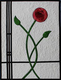 Charles Rennie Mackintosh quilt by Linda Steele