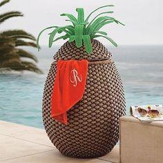 Pineapple Towel Hamper contemporary-outdoor-decor