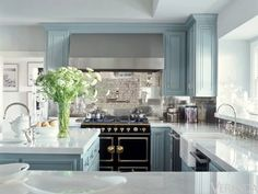 If I could get away with it - I'd do blue cabinets. These are JLo's. I am more than a little embarrassed at how much I loved her house in this magazine spread. Wouldn't have thought we would have much in common.