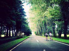 Ciclistas en ruta de Chile