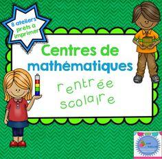 FRENCH Maths workshops {Back to school} / Ateliers de mathématique {Rentrée}