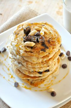 Vegan Snickers Pancakes - by Minimalist Baker