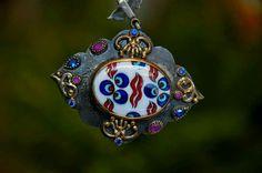 Fügen beşer Demir Tile Art, Glass Art, Polymer Clay, Jewelery, Brooch, Ornaments, Random, Accessories, Chokers