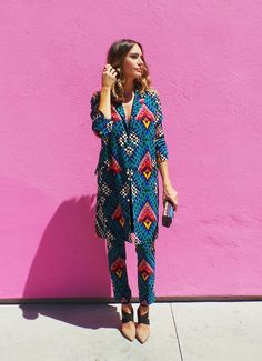 """matching print suit separates   get the look from """"Welcome To Front Roe""""   """"How To Wear Matching Prints""""   Front Roe, a fashion blog by Louise Roe"""