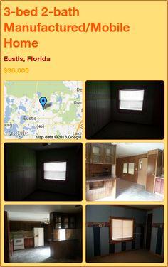 3-bed 2-bath Manufactured/Mobile Home in Eustis, Florida ►$36,000 #PropertyForSale #RealEstate #Florida http://florida-magic.com/properties/5217-manufactured-mobile-home-for-sale-in-eustis-florida-with-3-bedroom-2-bathroom