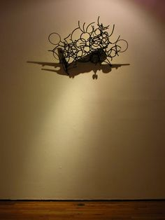 Larry Kagan... Amazing wire-shadow sculpture.