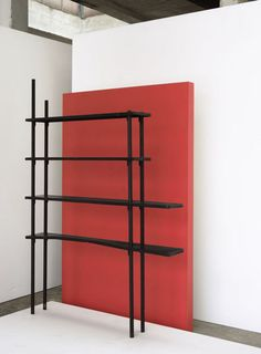 Joe Colombo; Unique Enameled Metal Shelves for Enrico and Gogina Baj, 1955.
